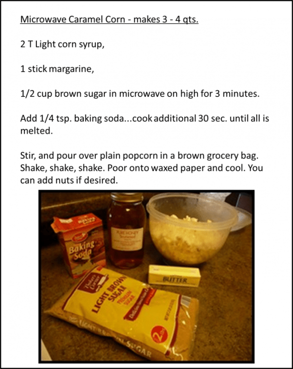 Microwve Caramel Popcorn - Fast and Easy