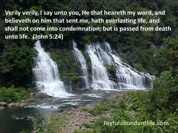 16 John 5 24