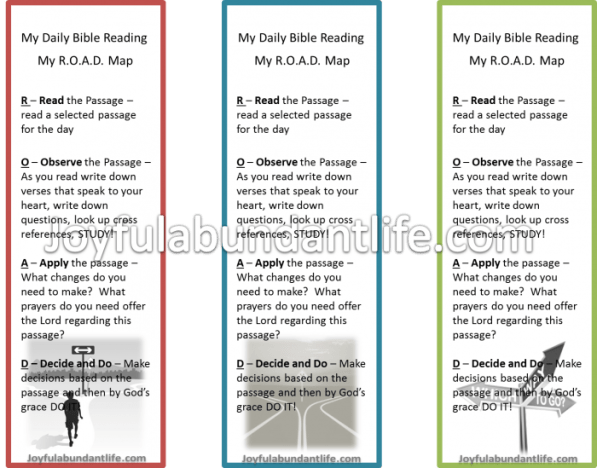 Free Road Map Bible Study Book Mark