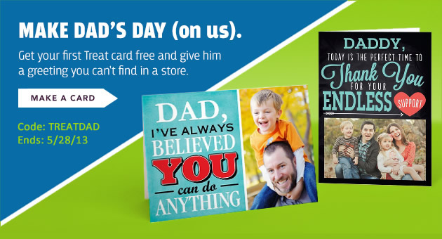 Free Father's Day Card from Treat
