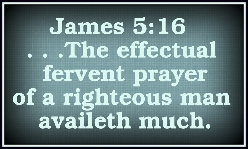 Effectual and Fervent Prayer avails much!