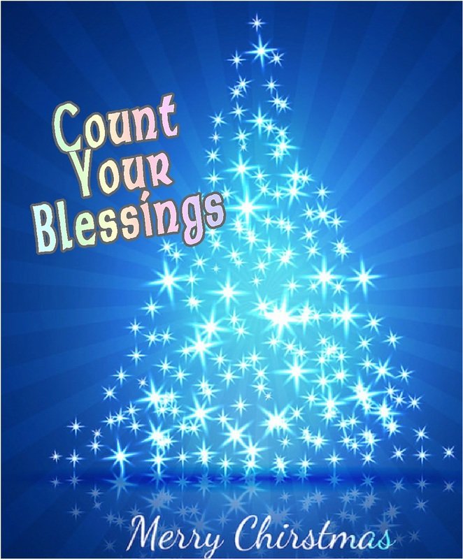 As you sit in a room lit only by tree lights  please remember that your blessings  out number the lights.