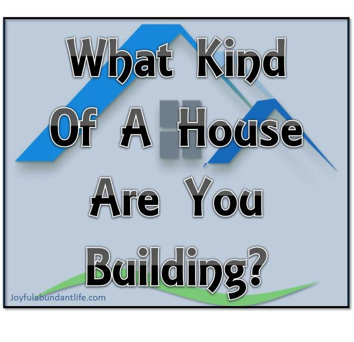 What Kind Of A House Are You Building