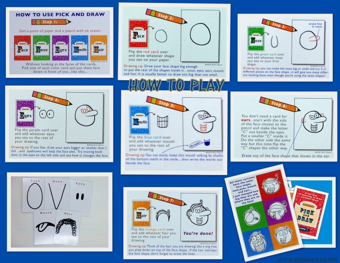 Pick and Draw Game is a fun, creative, super way to entertain kids and grandkids.