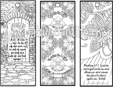 Free Bible Study Memory Verse Coloring Bookmarks with sign up