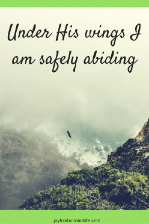 Under His wings I am safely abiding