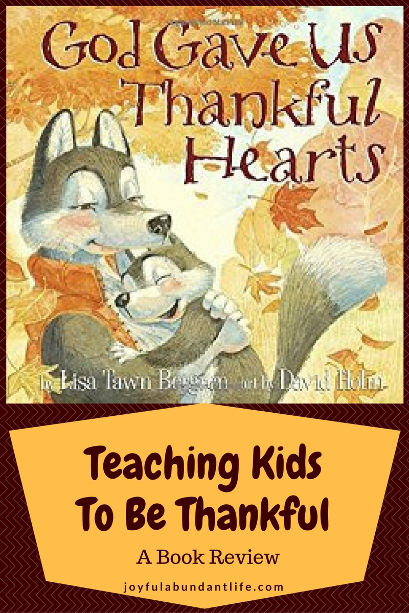 A great book for children and for teaching them how to be thankful to God in every season of life