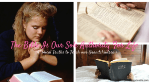 Instilling Biblical Truths Into My Grandchildren – The Bible is Your Sole Authority for Life