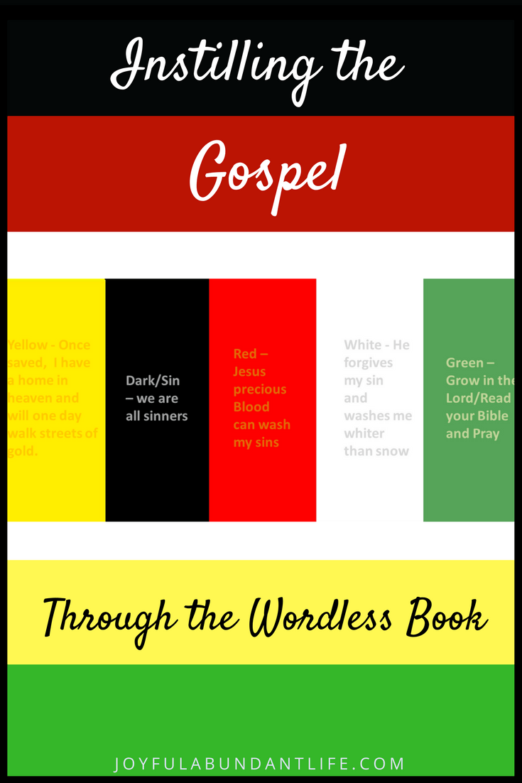 So Many Ways To Use The Wordless Book Gospel Colors To