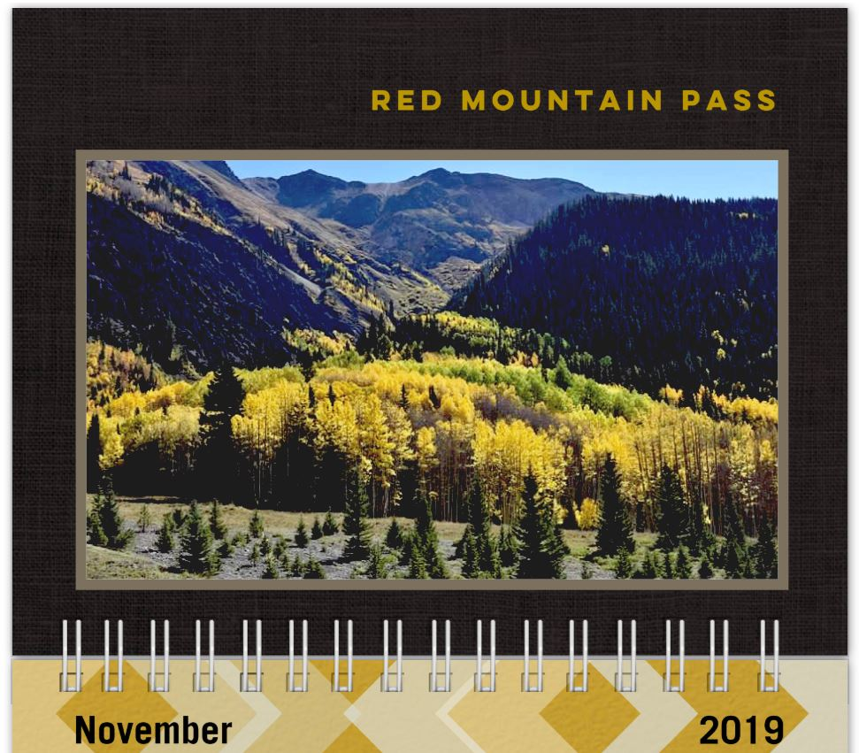 Shutterfly Calendar Page from November