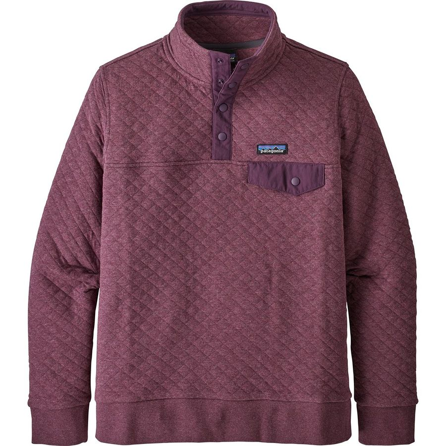 Patagonia purple quilted pullover
