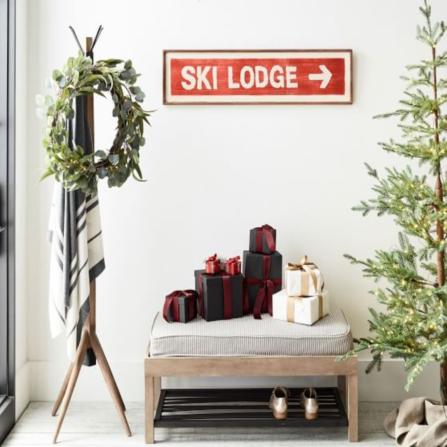 Pottery Barn Ski Lodge Sign