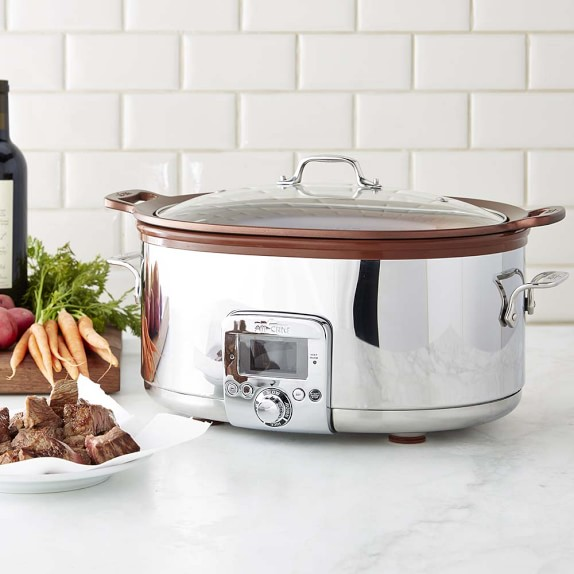 Copper crock pot for making healthy appetizer recipes for thanksgiving