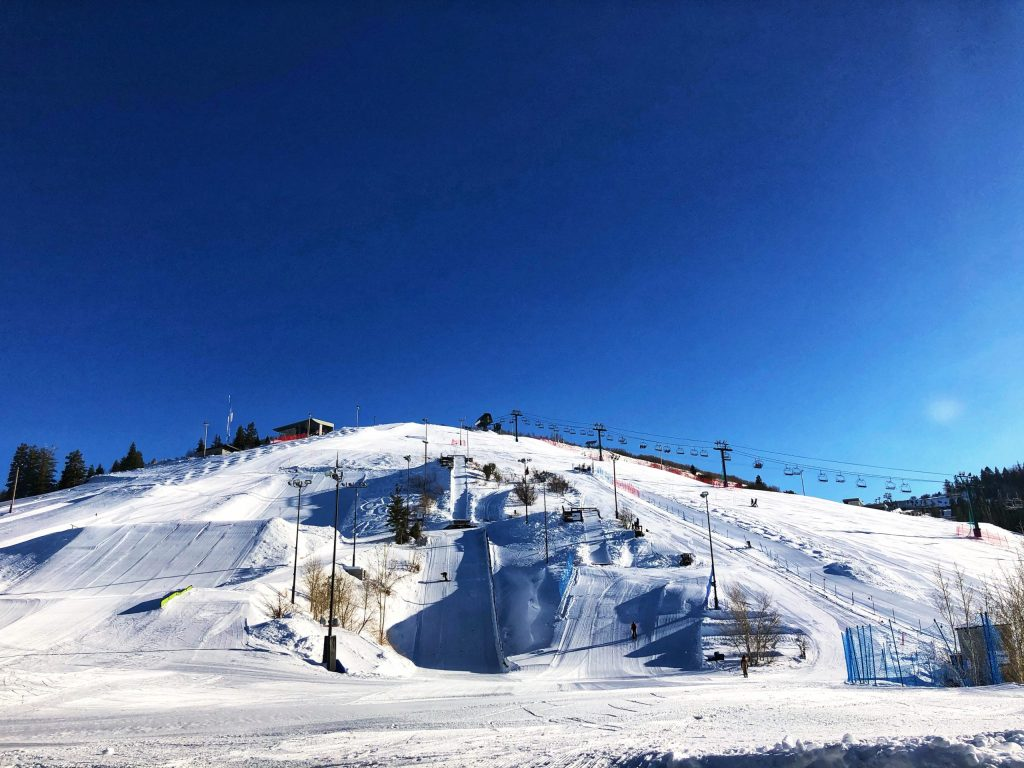 Ski runs at the Olympic Training Center in Park City
