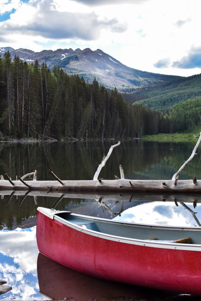 View from a lake in Southwestern Colorado