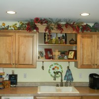 Decorating Above Kitchen Cabinets- Before and After Pictures and Tips