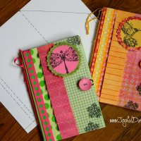 PAPER NOTEBOOK COVER TUTORIAL & TEMPLATE