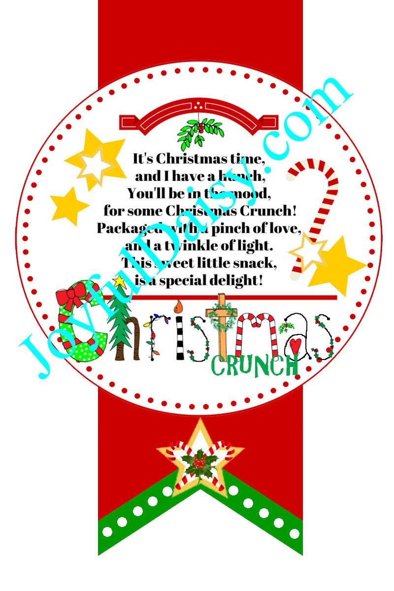 Christmas Crunch Gift Tags JOYFUL DAISY