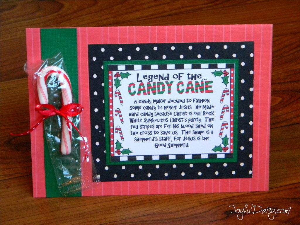 Legend Of The Candy Cane Crafts JOYFUL DAISY
