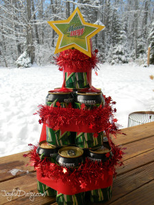 BEER Amp POP CAN CHRISTMAS TREE GIFT JOYFUL DAISY