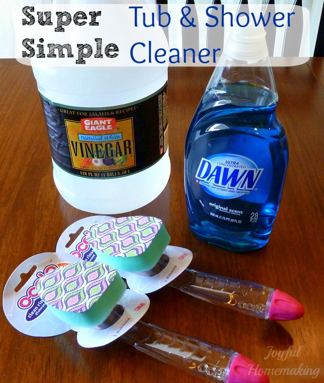 Simple Shower And Tub Cleaner