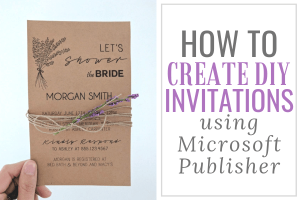 How To Make Wedding Invitations On Microsoft Publisher