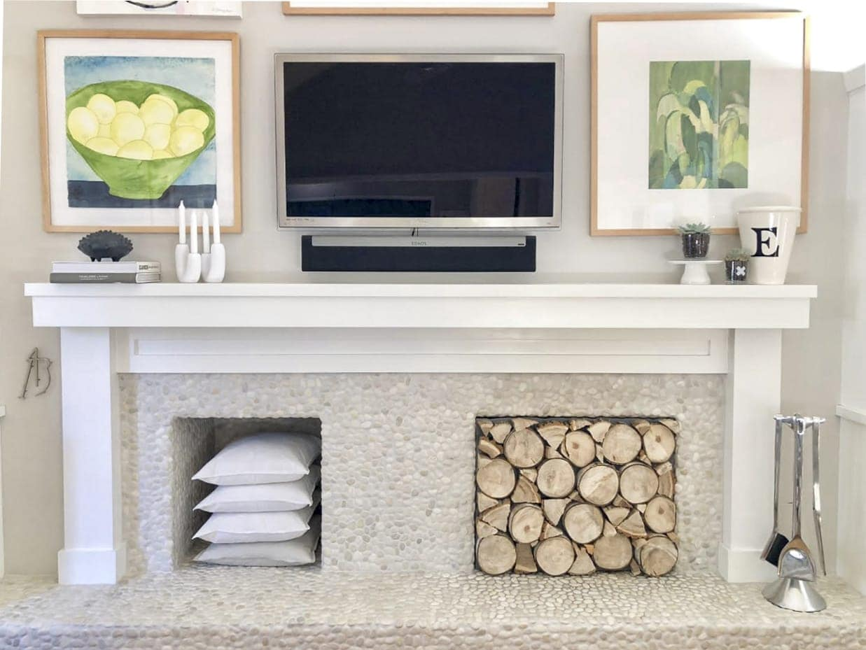 Your Fireplace Needs This Diy Stacked Log Insert