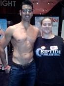 Rachel Haimowitz with Ryan Driller. Lucky girl!
