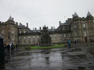 Holyrood Palace where David meets the King