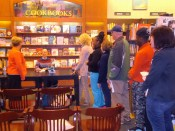 Joe Cosentino at a Barnes & Noble Booksellers signing for DRAMA QUEEN, the first Nicky and Noah mystery