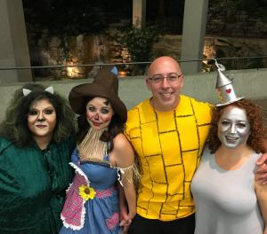 Wizard of oz party! The costumes were amazing! Amy, Lindsey and Dave