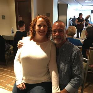 """My annual """"sitting on Rick's lap"""" picture from the signing. I have one from every GRL!"""