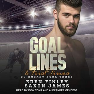 Audiobook Review: Goal Lines and First Times by Eden Finley and Saxon James