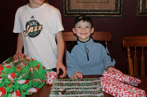 Excited Prep right after he got home.  He then got to finish opening his Christmas gifts.