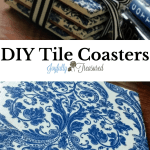 How To Make Coasters Out Of Ceramic Tiles And Napkins Easy Diy Home Decor Craft Joyfully Treasured