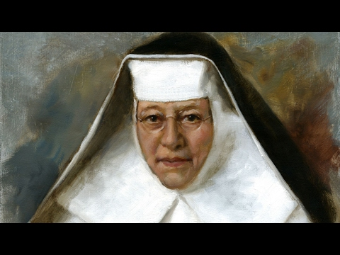 Painting of St. Katharine Drexel in her habit