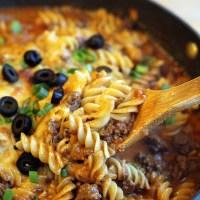 One-Skillet-Enchilada-Pasta