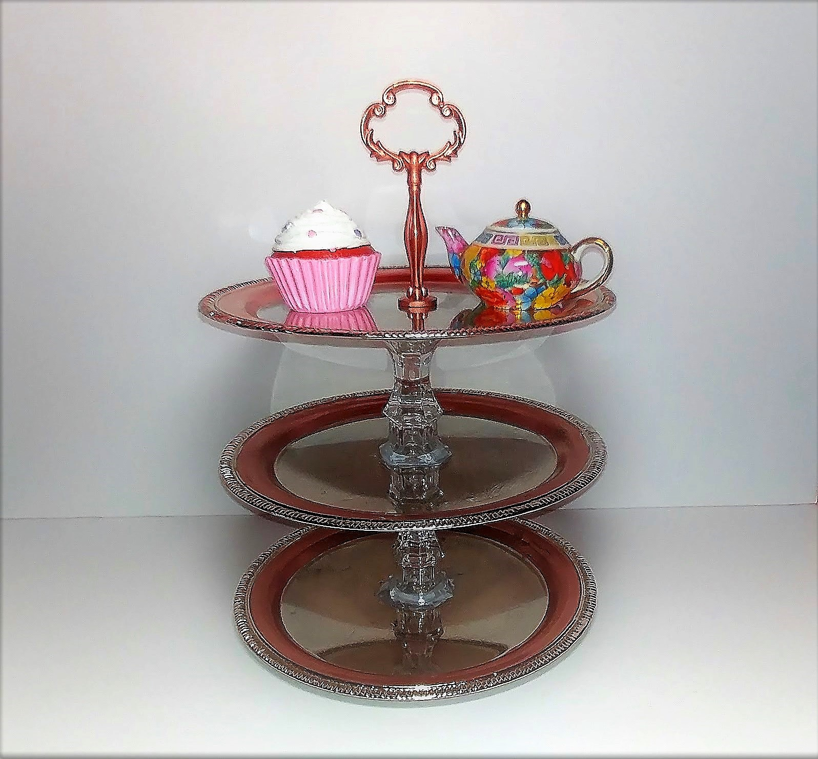 Three Tier Cupcake Stand – DIY Dollar Tree Crafts