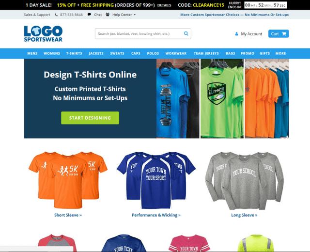 Logo Sportswear Website