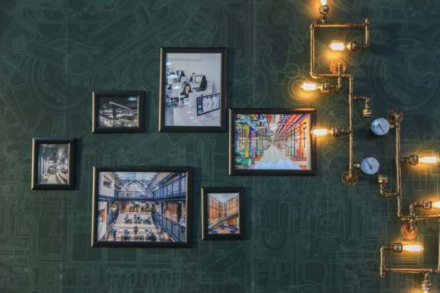 Photo Frames by the wall