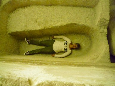 Where her sarcophagus was.