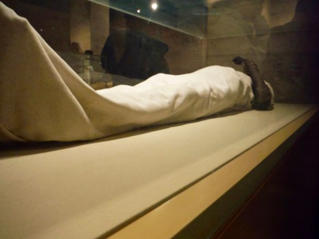 I TOTALLY snuck this picture as cameras are FORBIDDEN inside the Mummies Area of the museum. This is Queen Hatshepsut.