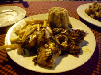 Grilled chicken and rice - DELICIOUS!!!