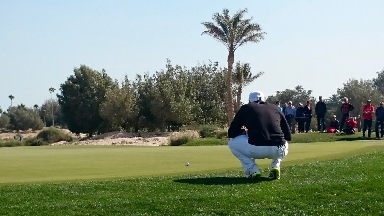 One of my FAVOURITE moments......Sergio is THAT close to me while he plans his putt!!!