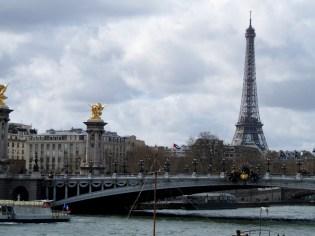 Right Bank - The Pont Alexandre III Bridge.
