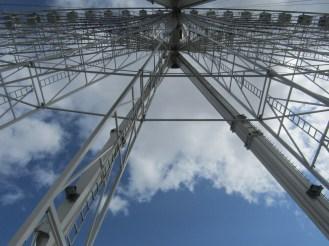 Looking 70 meters up the Ferris Wheel!!