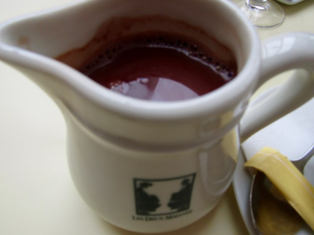Deux Magots is also famous for their hot chocolate...this was UNBELIEVABLY DELICIOUS...RICH, SMOOTH AND CREAMY!!!!!!!!