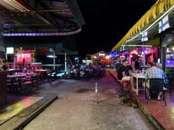A back street off a main road - bar after bar after bar.....
