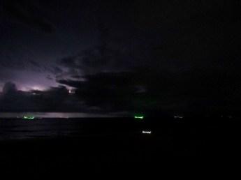 Lightening storm over Karon Beach