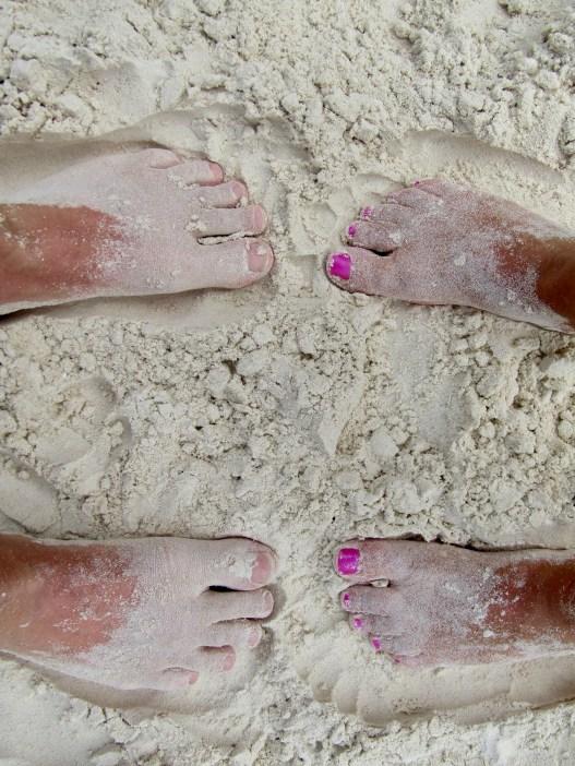 Powdery white sands!
